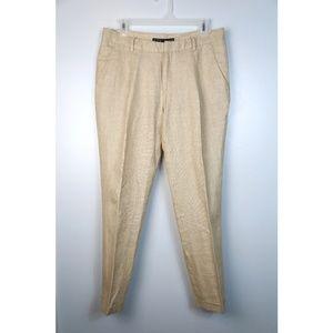 Zara Basic US 6 Cream Linen Pants